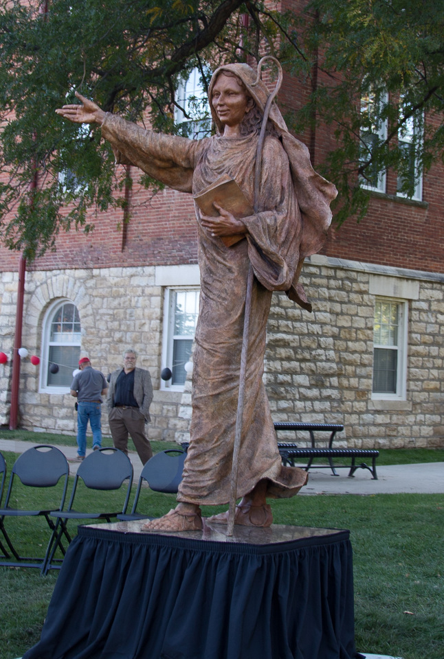 St.Scholastica,Benedictine College 2014,8ft Bronze -