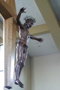 "Slideshow ""Transcendant Christ""  copper repousse"